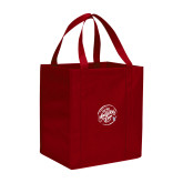 Non Woven Red Grocery Tote-We are New Yorks Team
