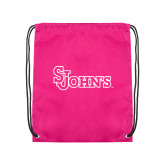 Pink Drawstring Backpack-St Johns