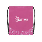 Nylon Pink Bubble Patterned Drawstring Backpack-St Johns