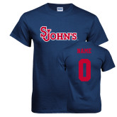 Navy T Shirt-St Johns, Custom Tee w/ Name and #