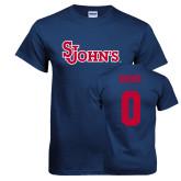 Navy T Shirt-St Johns, Custom Tee w/ Name and #