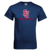 Navy T Shirt-SJ Redstorm Stacked