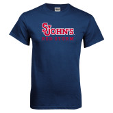 Navy T Shirt-St Johns Red Storm