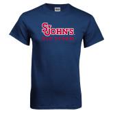 Navy T Shirt-St Johns Red Storm