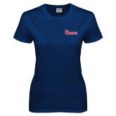 Ladies Navy T Shirt-St Johns