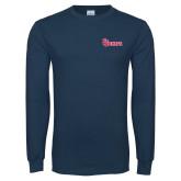 Navy Long Sleeve T Shirt-St Johns