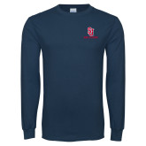 Navy Long Sleeve T Shirt-SJ Redstorm Stacked