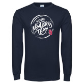 Navy Long Sleeve T Shirt-We are New Yorks Team