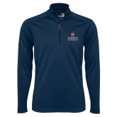 Syntrel Navy Interlock 1/4 Zip-University Mark Stacked