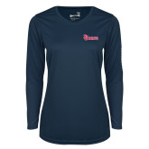Ladies Syntrel Performance Navy Longsleeve Shirt-St Johns