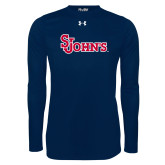 Under Armour Navy Long Sleeve Tech Tee-St Johns