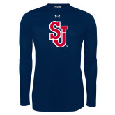 Under Armour Navy Long Sleeve Tech Tee-SJ