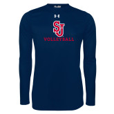 Under Armour Navy Long Sleeve Tech Tee-Volleyball