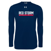 Under Armour Navy Long Sleeve Tech Tee-Basketball Bar Design