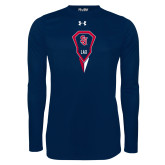Under Armour Navy Long Sleeve Tech Tee-Modern Lacrosse Stick