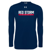 Under Armour Navy Long Sleeve Tech Tee-Lacrosse Bar Design