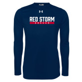 Under Armour Navy Long Sleeve Tech Tee-Soccer Bar Design