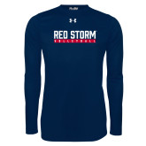 Under Armour Navy Long Sleeve Tech Tee-Volleyball Bar Design
