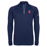 Under Armour Navy Tech 1/4 Zip Performance Shirt-SJ Redstorm Stacked
