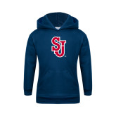 Youth Navy Fleece Hoodie-SJ