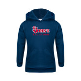Youth Navy Fleece Hoodie-St Johns Red Storm