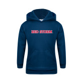Youth Navy Fleece Hoodie-Red Storm