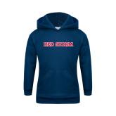 Youth Navy Fleece Hoodie-Red Storm