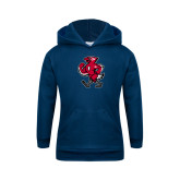Youth Navy Fleece Hoodie-Mascot