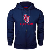 Navy Fleece Full Zip Hoodie-SJ Redstorm Stacked