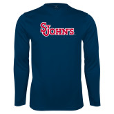 Syntrel Performance Navy Longsleeve Shirt-St Johns