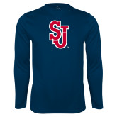 Syntrel Performance Navy Longsleeve Shirt-SJ