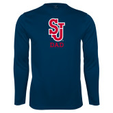 Syntrel Performance Navy Longsleeve Shirt-Dad