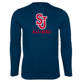 Syntrel Performance Navy Longsleeve Shirt-Alumni