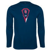 Syntrel Performance Navy Longsleeve Shirt-Modern Lacrosse Stick