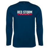Syntrel Performance Navy Longsleeve Shirt-Soccer Bar Design