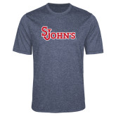 Performance Navy Heather Contender Tee-St Johns