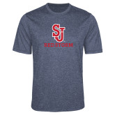 Performance Navy Heather Contender Tee-SJ Redstorm Stacked