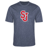 Performance Navy Heather Contender Tee-SJ