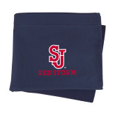 Navy Sweatshirt Blanket-SJ Redstorm Stacked
