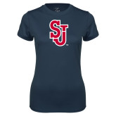 Ladies Syntrel Performance Navy Tee-SJ
