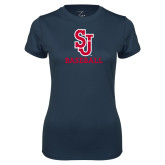 Ladies Syntrel Performance Navy Tee-Baseball