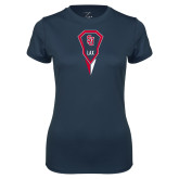 Ladies Syntrel Performance Navy Tee-Modern Lacrosse Stick