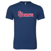 Next Level Vintage Navy Tri Blend Crew-St Johns