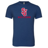 Next Level Vintage Navy Tri Blend Crew-SJ Redstorm Stacked