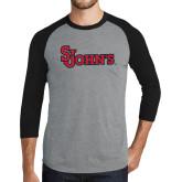 Grey/Black Tri Blend Baseball Raglan-St Johns
