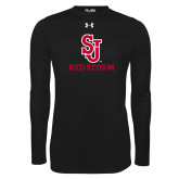 Under Armour Black Long Sleeve Tech Tee-SJ Redstorm Stacked