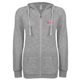 ENZA Ladies Grey/Black Marled Full Zip Hoodie-St Johns