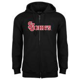 Black Fleece Full Zip Hoodie-St Johns
