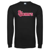 Black Long Sleeve T Shirt-St Johns