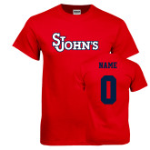 Red T Shirt-St Johns, Custom Tee w/ Name and #